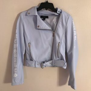 Baby Blue Forever 21 Leather Jacket